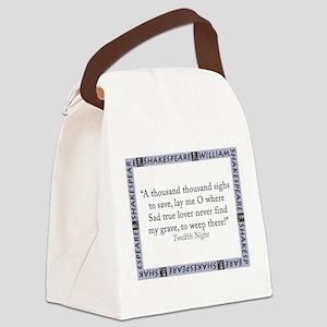 A Thousand Thousand Sighs Canvas Lunch Bag