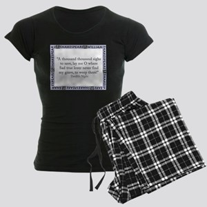 A Thousand Thousand Sighs Women's Dark Pajamas