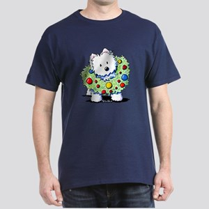 Westie Wreath Dark T-Shirt