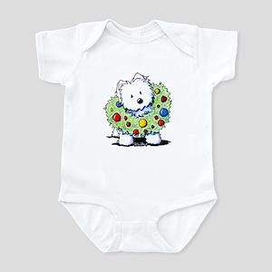 Westie Wreath Infant Bodysuit
