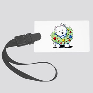 Westie Wreath Large Luggage Tag