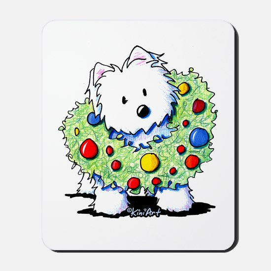 Westie Wreath Mousepad