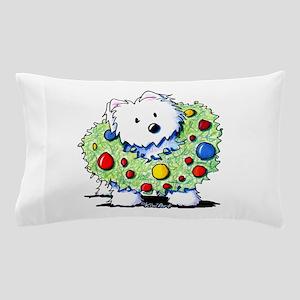 Westie Wreath Pillow Case