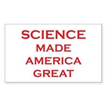 Science Made America Gre Sticker (Rectangle 10 pk)