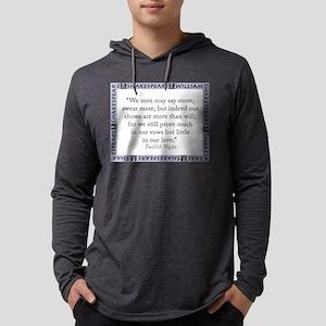 We Men May Say More Mens Hooded Shirt