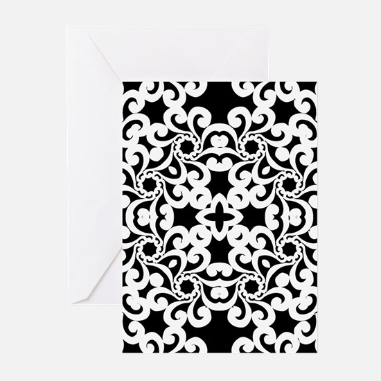 Black & White Lace Tile Greeting Cards (Pk of 20)