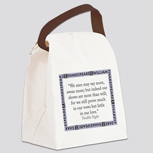 We Men May Say More Canvas Lunch Bag