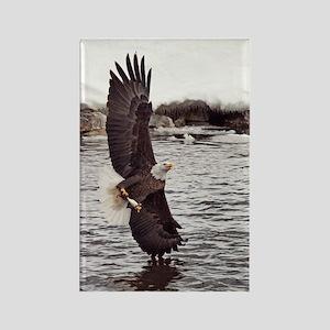 Vertical Eagle Rectangle Magnet