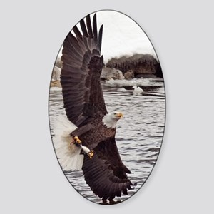 Vertical Eagle Sticker (Oval)