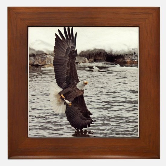 Vertical Eagle Framed Tile