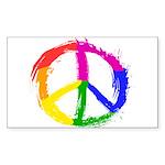 Peace Sign Sticker (Rectangle 10 pk)