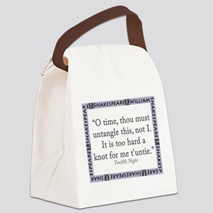 O Time, Thou Must Untangle This Canvas Lunch Bag