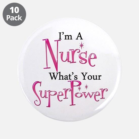 """Super Nurse 3.5"""" Button (10 pack)"""