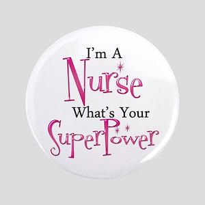 "Super Nurse 3.5"" Button"