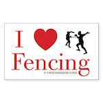 ilovefencingrec Sticker (Rectangle 10 pk)
