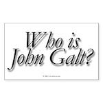 whoisjohngalt.rect.stick Sticker (Rectangle 10 pk)