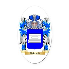 Andrault Oval Car Magnet