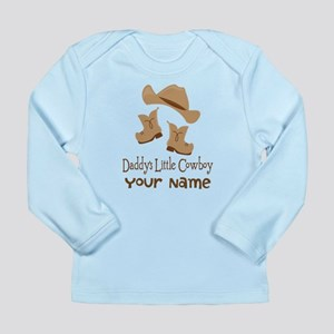 Daddys Little Cowboy Long Sleeve Infant T-Shirt
