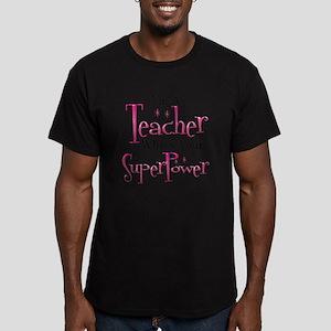 Super Teacher Men's Fitted T-Shirt (dark)