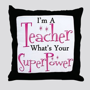 Super Teacher Throw Pillow