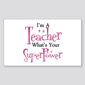 Super Teacher Sticker (Rectangle)