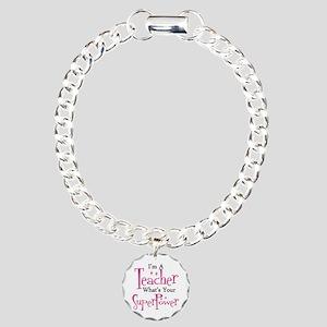 Super Teacher Charm Bracelet, One Charm