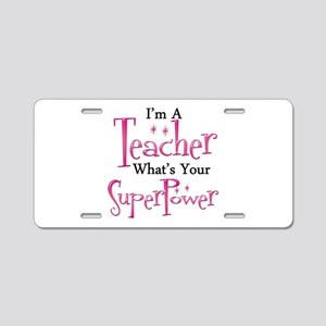 Super Teacher Aluminum License Plate