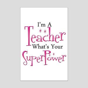 Super Teacher Mini Poster Print