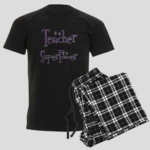 Super Teacher Men's Dark Pajamas