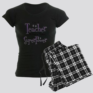 Super Teacher Women's Dark Pajamas