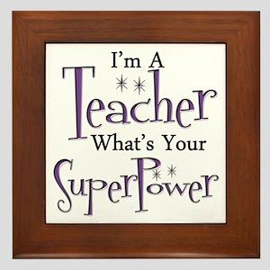 Super Teacher Framed Tile