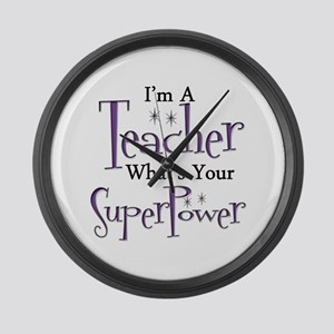 Super Teacher Large Wall Clock