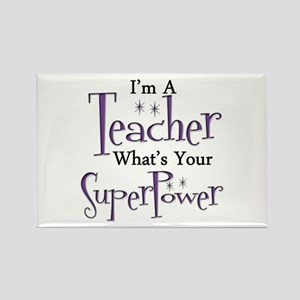 Super Teacher Rectangle Magnet