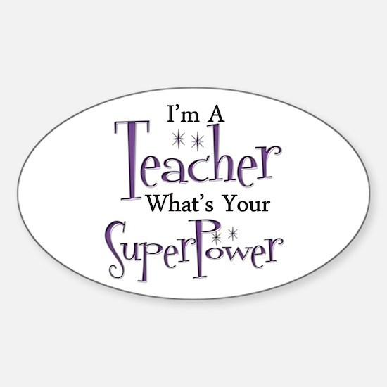 Super Teacher Sticker (Oval)