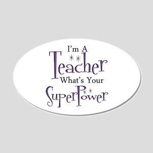 Super Teacher 20x12 Oval Wall Decal