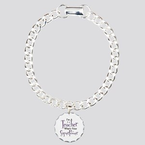 Super Teacher Charm Bracelet, One Charm