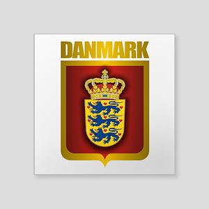 """Denmark (Gold Label) Square Sticker 3"""" x 3"""""""
