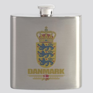 Denmark COA(Flag 10) Flask