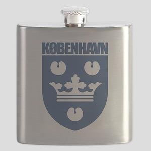 Kobenhavn COA (blue) Flask