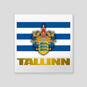 """Tallinn Square Sticker 3"""" x 3"""""""