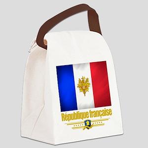 French Flag-Emblem (Flag 10) Canvas Lunch Bag