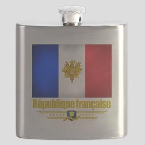 French Flag-Emblem (Flag 10) Flask
