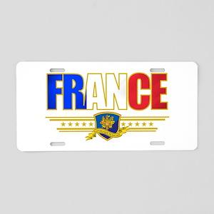 France Outline Aluminum License Plate
