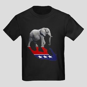 Republican Elephant Shadow Kids Dark T-Shirt