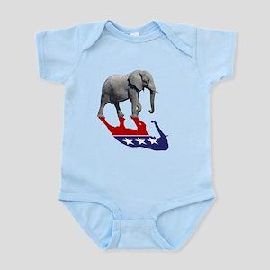 Republican Elephant Shadow Infant Bodysuit