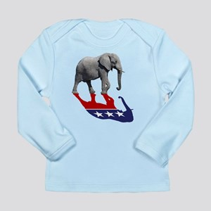 94846b96d03625 Republican Elephant Shadow Long Sleeve Infant T-Sh