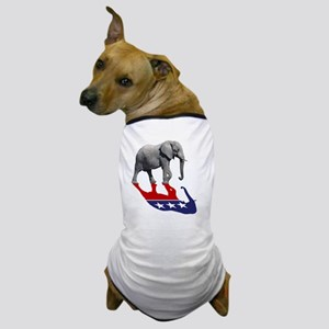 Republican Elephant Shadow Dog T-Shirt