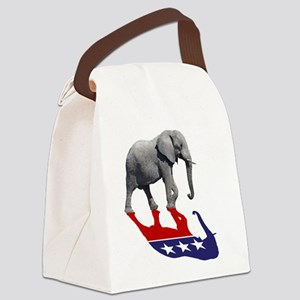 Republican Elephant Shadow Canvas Lunch Bag