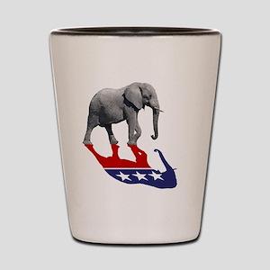 Republican Elephant Shadow Shot Glass