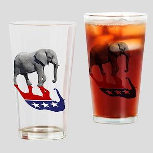 Republican Elephant Shadow Drinking Glass